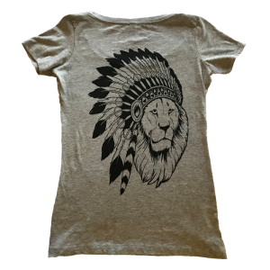 Lion Print Shirt - Women's (Grey)