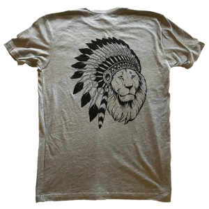 Lion Print Shirt (Grey)