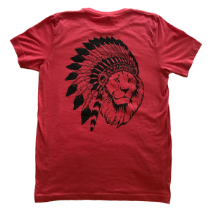 Lion Print Shirt (Red)